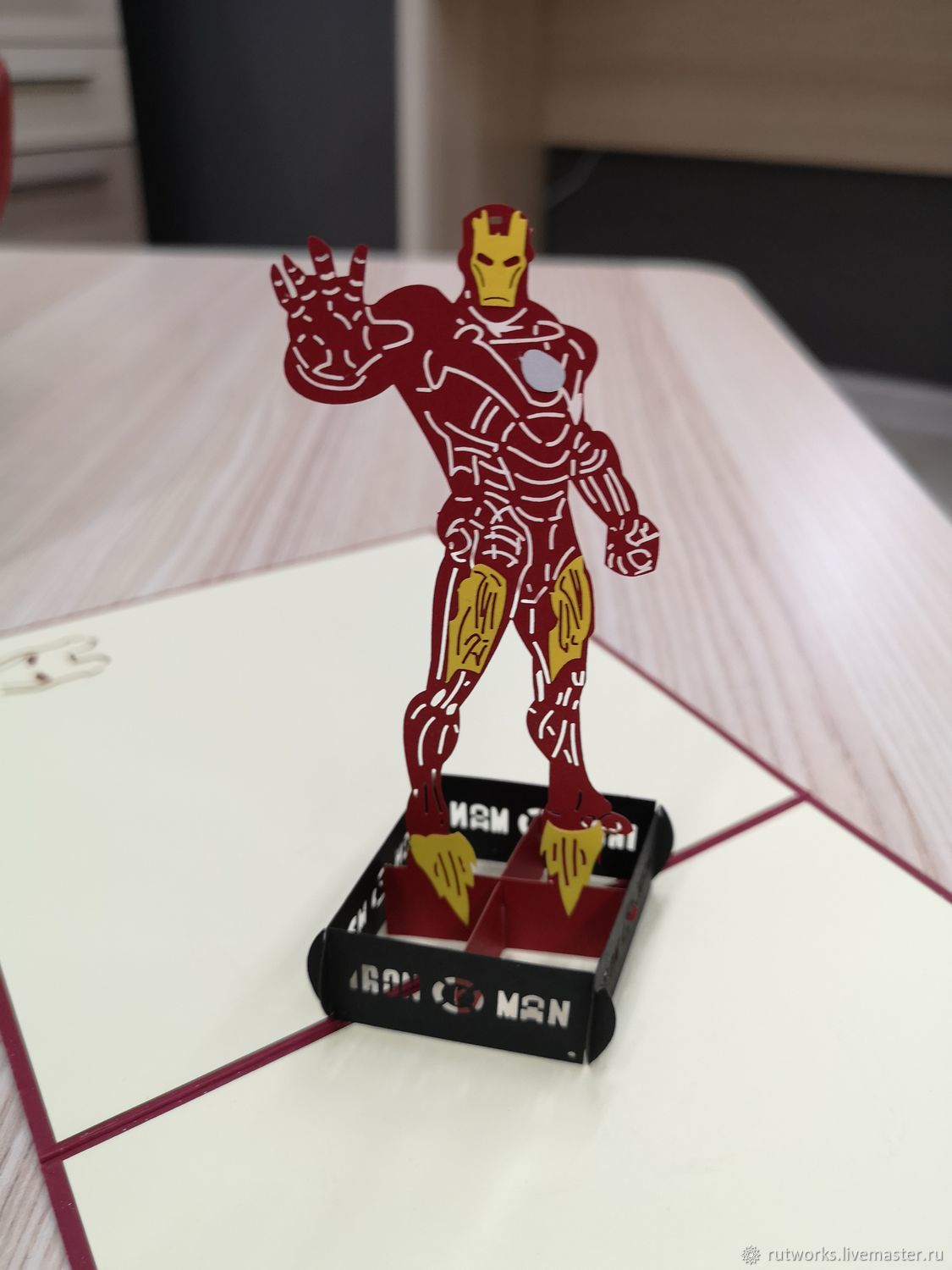 Iron Man - 3D handmade greeting card, Gifts for February 23, Moscow,  Фото №1