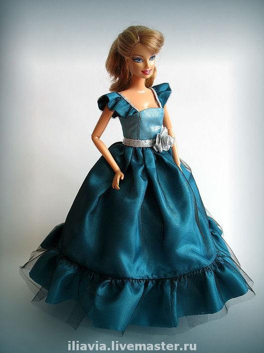 """Одежда для кукол ручной работы. Ярмарка Мастеров - ручная работа. Купить Платье """"Бриз"""". Handmade. Платье для куклы, атлас"""