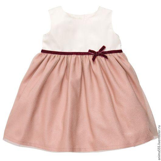 Одежда для девочек, ручной работы. Ярмарка Мастеров - ручная работа. Купить Платье для девочки. Handmade. Кремовый, платье для девочки, хлопок