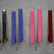 Материалы для творчества ручной работы. Ярмарка Мастеров - ручная работа Зажим, 8 см, металл, набор 10 шт, основа, заготовка, цветные. Handmade.