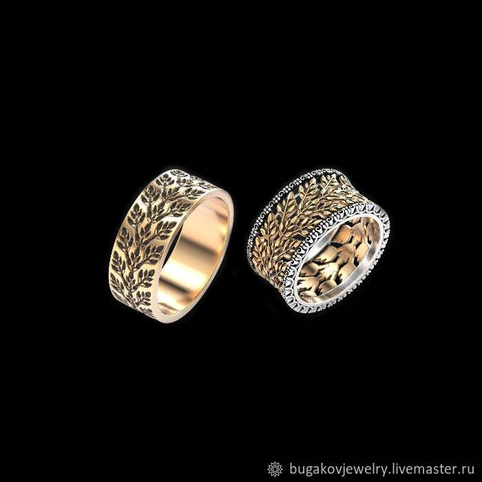 Кольца ручной работы. Ярмарка Мастеров - ручная работа. Купить Обручальные  кольца  Harvest of ... 3aa6d915c08