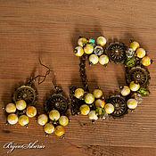 Украшения handmade. Livemaster - original item Earrings and bracelet