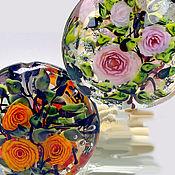 """Украшения ручной работы. Ярмарка Мастеров - ручная работа Кулоны """"Розовый куст"""" . Лэмпворк. Handmade."""