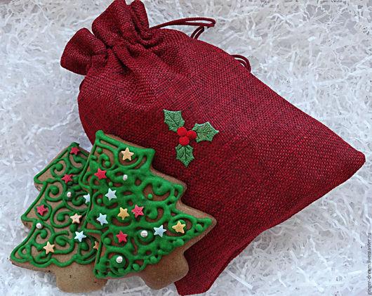 Новогодние пряники `Елочки в мешочке` от Ginger-Dream