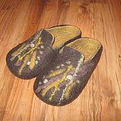 Обувь ручной работы. Ярмарка Мастеров - ручная работа Тапочки из шерсти мужские. Handmade.