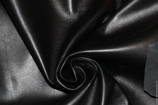 Шитье ручной работы. Ярмарка Мастеров - ручная работа. Купить кожа одежная черная. Handmade. Черный, кожа натуральная купить