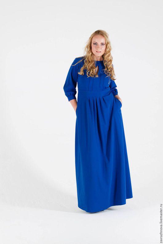 """Платья ручной работы. Ярмарка Мастеров - ручная работа. Купить Платье """"Ультрамарин"""". Handmade. Тёмно-синий, вечернее платье в пол"""