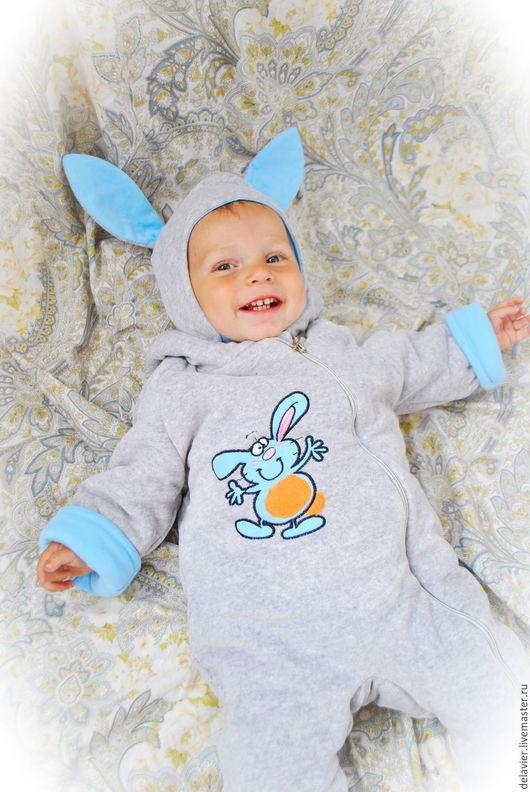 Комбинезон детский  `Озорной Зайка`, комбинезон-вырастайка, детская одежда