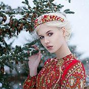 Украшения handmade. Livemaster - original item Embroidered headband in the style of Dolce & Gabbana. Handmade.