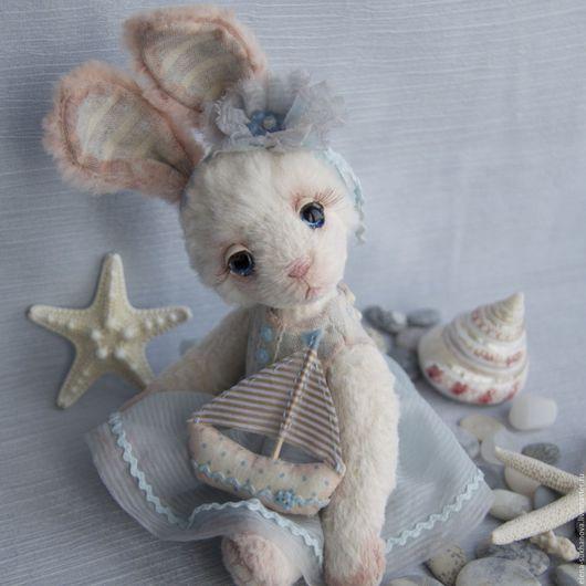 Мишки Тедди ручной работы. Ярмарка Мастеров - ручная работа. Купить Юная яхтсменка. Handmade. Голубой, друзья мишек тедди