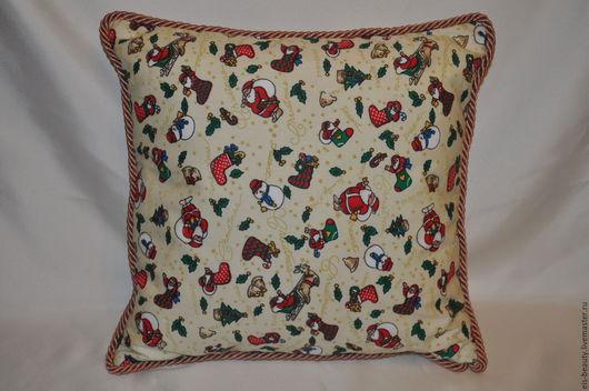 Текстиль, ковры ручной работы. Ярмарка Мастеров - ручная работа. Купить Интерьерная подушка. Handmade. Комбинированный, подушка, подушка на диван