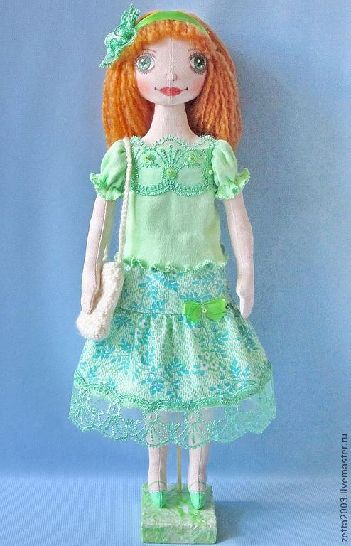 Коллекционные куклы ручной работы. Ярмарка Мастеров - ручная работа. Купить текстильная кукла Майя. Handmade. Текстильные куклы