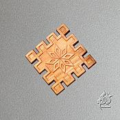 Русский стиль ручной работы. Ярмарка Мастеров - ручная работа Алатырь в Репейнике - магнит на холодильник. Handmade.
