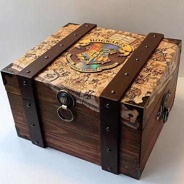 Для дома и интерьера. Ярмарка Мастеров - ручная работа Шкатулки: Сундук Гарри Поттера (Хогвардс). Handmade.