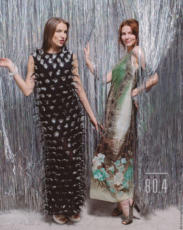 Вечерние платья с перьями купить