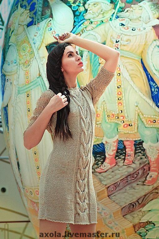 """Платья ручной работы. Ярмарка Мастеров - ручная работа. Купить Платье"""" Венеция"""". Handmade. Вязаное платье, 55% хлопок"""