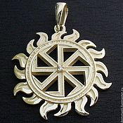 Amulet handmade. Livemaster - original item Kolovrat in the sun with diamond. Handmade.