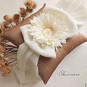 Свадебный салон ручной работы. Ярмарка Мастеров - ручная работа Наина. Комплек подушечка+клипсы для обуви. Handmade.