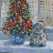 """Картины и панно ручной работы. Ярмарка Мастеров - ручная работа Картина маслом """"Скоро Новый год"""". Handmade."""