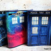 Канцелярские товары handmade. Livemaster - original item Leather passport cover Doctor who TARDIS doctor who. Handmade.
