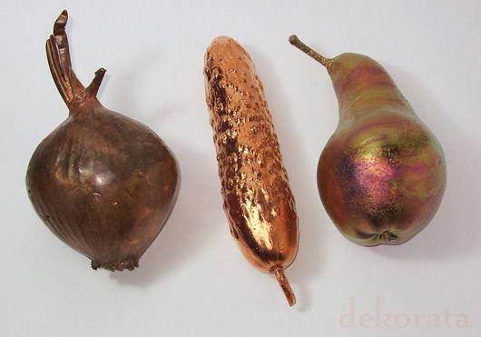 Статуэтки ручной работы. Ярмарка Мастеров - ручная работа. Купить Овощи-фрукты из металла. Handmade. Овощи, интерьер, груша, мандарин