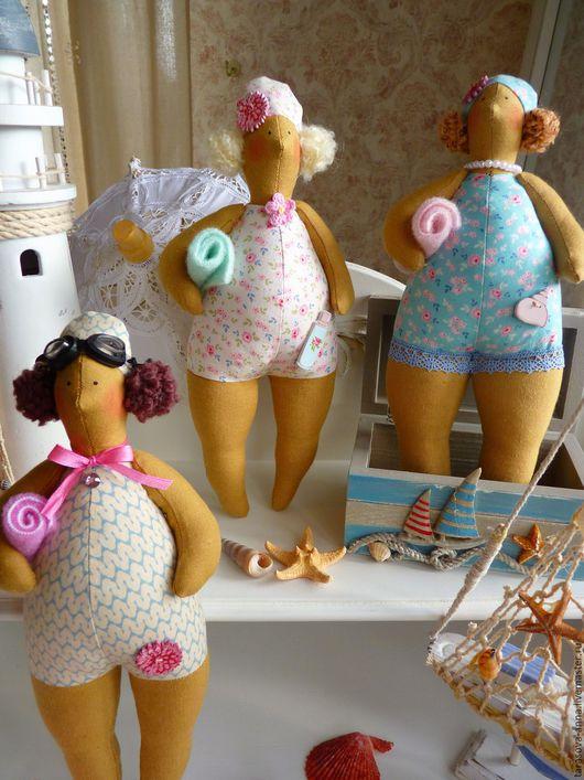"""Куклы Тильды ручной работы. Ярмарка Мастеров - ручная работа. Купить Тильды купальщицы """"Лето, мы тебя не забудем!"""". Handmade. Комбинированный"""