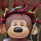 Куклы и игрушки ручной работы. Ярмарка Мастеров - ручная работа Обезьянки Мики и Ники ( подружки).. Handmade.