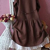 Одежда handmade. Livemaster - original item The boho dress of flax  Cinnamon. Handmade.