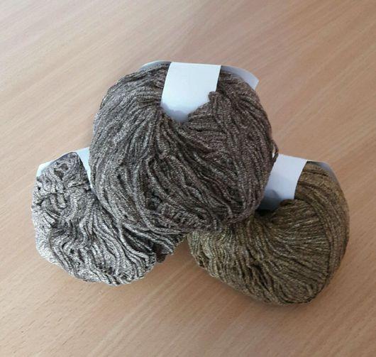 """Вязание ручной работы. Ярмарка Мастеров - ручная работа. Купить Пряжа Filtoppa """"Ciniglia"""", синель. Handmade. Коричневый, пряжа для спиц"""