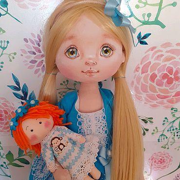 Куклы и игрушки ручной работы. Ярмарка Мастеров - ручная работа Анютка. Текстильная куколка. Handmade.
