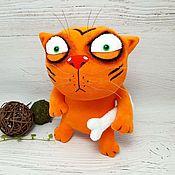 Куклы и игрушки handmade. Livemaster - original item I`m tigrrr! Soft toy red cat Vasya Lozhkina. Handmade.
