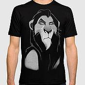 "Одежда handmade. Livemaster - original item Футболка хлопковая ""Lion KIng - Шрам"". Handmade."