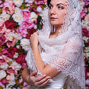 Свадебный салон handmade. Livemaster - original item Wedding down scarf