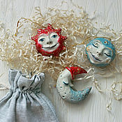 Мягкие игрушки ручной работы. Ярмарка Мастеров - ручная работа Ёлочные игрушки. Handmade.