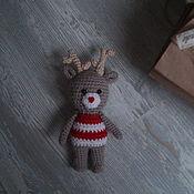 Работы для детей, ручной работы. Ярмарка Мастеров - ручная работа вязаная игрушка для фотосессии - олененок. Handmade.