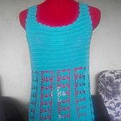 Одежда ручной работы. Ярмарка Мастеров - ручная работа Пляжное платье Лазурь. Handmade.