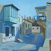 """Картины ручной работы. Ярмарка Мастеров - ручная работа """"Старый город"""" пейзаж с городом. Handmade."""