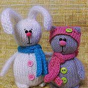 Куклы и игрушки ручной работы. Ярмарка Мастеров - ручная работа Кот и заяц. Handmade.