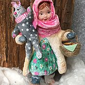 Куклы и пупсы ручной работы. Ярмарка Мастеров - ручная работа Серия «дети зимой». Ох, уж эта Настенька!. Handmade.