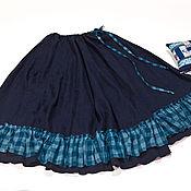 Одежда ручной работы. Ярмарка Мастеров - ручная работа Юбка Синяя ночь. Handmade.