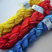 Нитки ручной работы. Ярмарка Мастеров - ручная работа Миксы из 5 различных нитей для вышивки (№08,15, 22). Handmade.