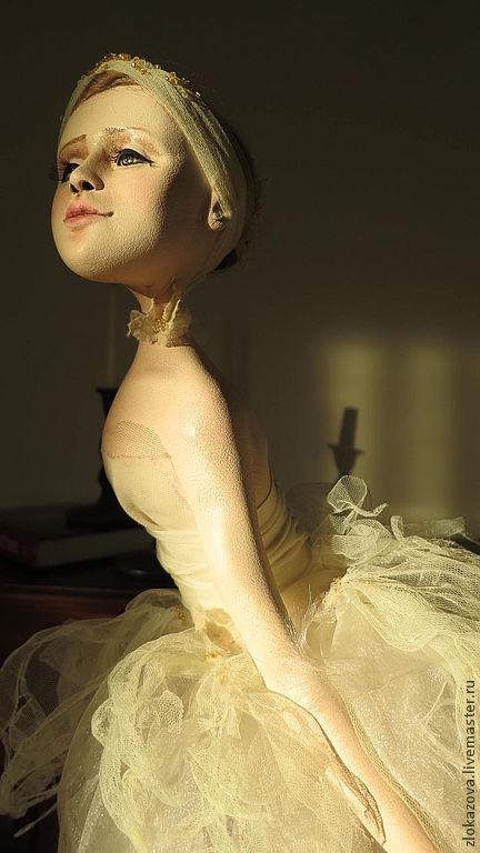 Куклы и игрушки ручной работы. Ярмарка Мастеров - ручная работа. Купить балерина. Handmade. Бежевый, кукла интерьерная, ткань