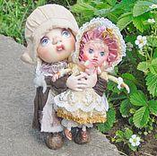 "Текстильная каркасная  кукла "" Козетта """