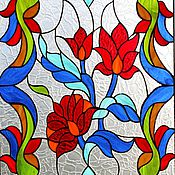 Для дома и интерьера ручной работы. Ярмарка Мастеров - ручная работа Райский сад. Витраж Тиффани. Handmade.