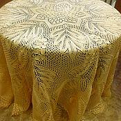Для дома и интерьера ручной работы. Ярмарка Мастеров - ручная работа круглая скатерть АДЕЛАИДА. Handmade.
