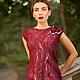 """Платья ручной работы. Ярмарка Мастеров - ручная работа. Купить Платье """"Элегантная марсала"""". Handmade. Бордовый, войлок, валяное платье"""