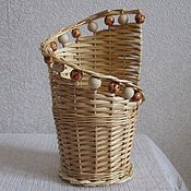 Для дома и интерьера handmade. Livemaster - original item Wicker stand under glass Cutlery, pencils. Handmade.