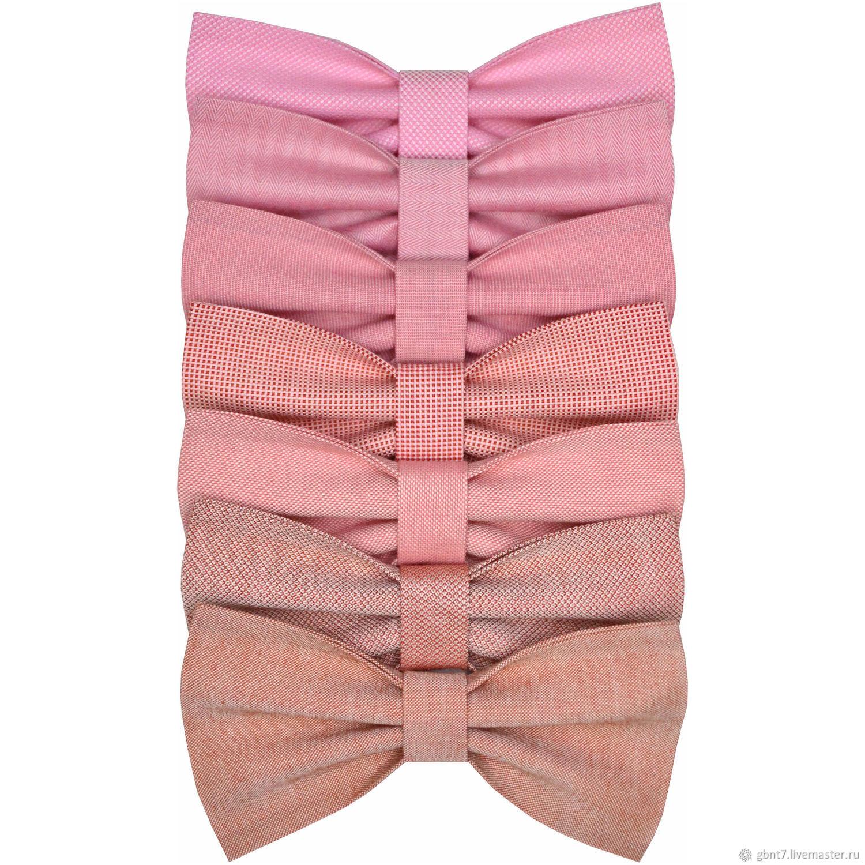 Галстук-бабочка розовая пудровая пыльная пепельная холодная пастельная, Бабочки, Нижний Тагил,  Фото №1