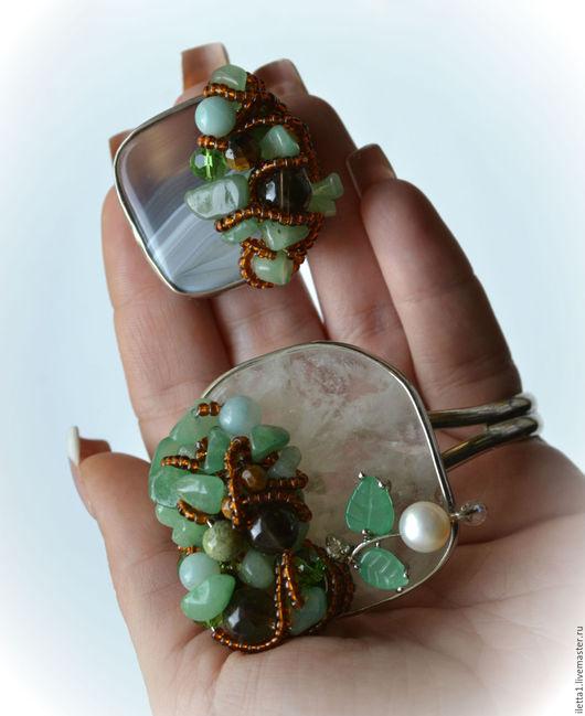 """Браслеты ручной работы. Ярмарка Мастеров - ручная работа. Купить Браслет и кольцо  """" Гуляя по лесу 2 """". Handmade."""