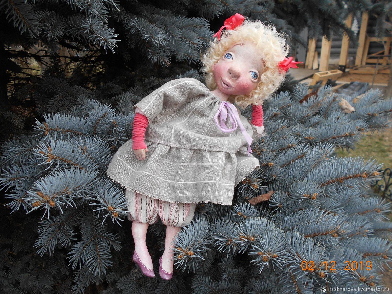 Авторская подвижная куколка Энжи из папье маше, Куклы и пупсы, Москва,  Фото №1